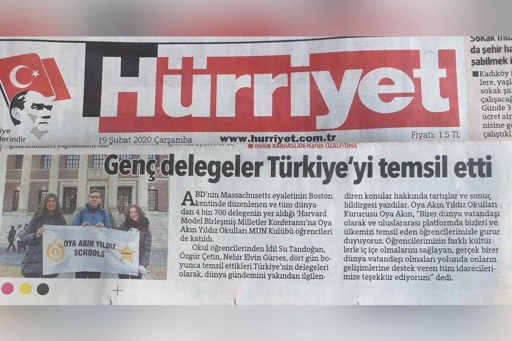Genç delegeler Türkiye' yi temsil etti