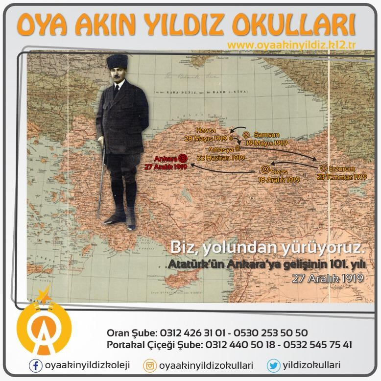 Atatürk' ün Ankara' ya gelişinin 101. Yılı